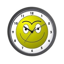 Unibrow Smiley Wall Clock