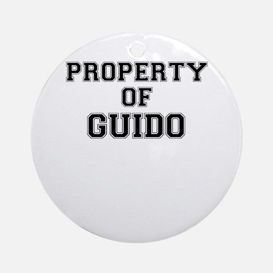 Property of GUIDO Round Ornament