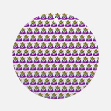 Princess Crown Rainbow Emoji Poop Round Ornament