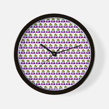 Princess Crown Rainbow Emoji Poop Wall Clock