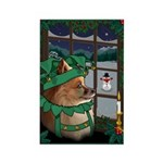 Cutest Christmas Dog Rectangle Magnet (100 pack)