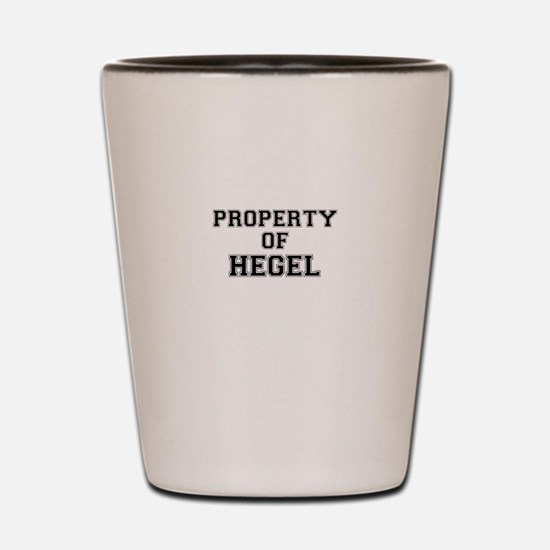 Property of HEGEL Shot Glass