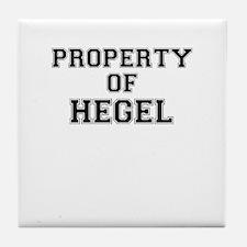 Property of HEGEL Tile Coaster