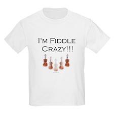I'm Fiddle Crazy!!! Kids T-Shirt