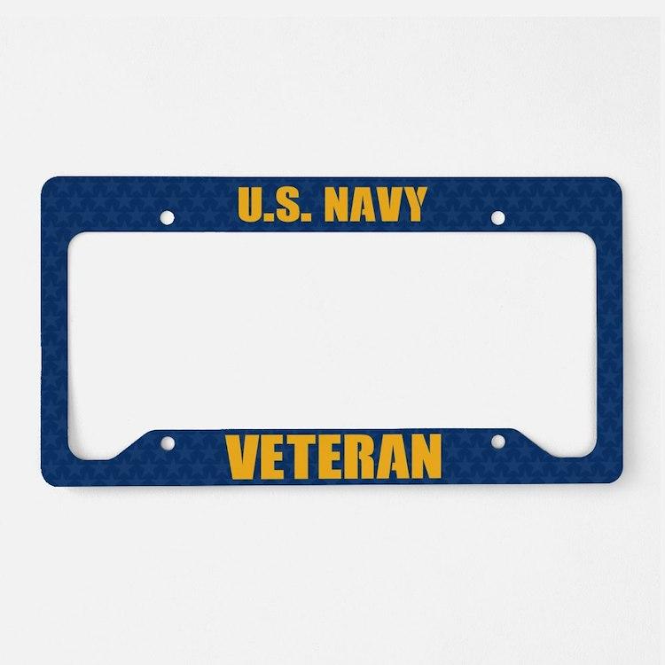 U.S. Navy Veteran License Plate Holder