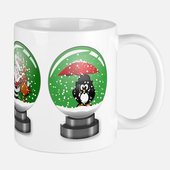 Snow Globe Christmas Mugs