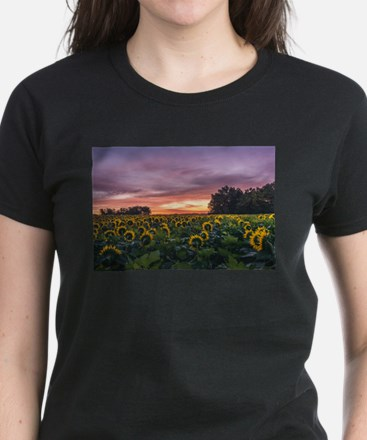 Kansas Sunflower Sunrise T-Shirt