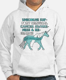 Unicorns Support Cervical Cancer Hoodie