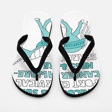 Unicorns Support Cervical Cancer Awaren Flip Flops