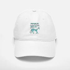Unicorns Support Cervical Cancer Awareness Baseball Baseball Cap