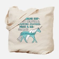 Unicorns Support Cervical Cancer Awarenes Tote Bag