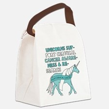 Unicorns Support Cervical Cancer Canvas Lunch Bag
