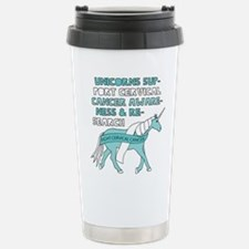 Unicorns Support Cervic Stainless Steel Travel Mug
