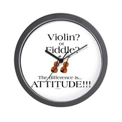 Violin? or Fiddle? #1 Wall Clock