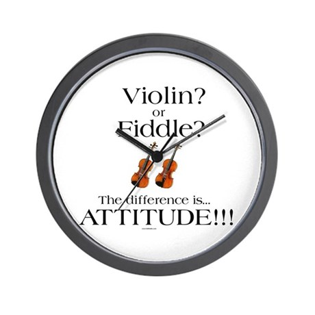 Violin? or Fiddle? #1 Wall Clock