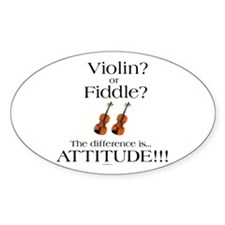 Violin? or Fiddle? #1 CASE Oval Decal