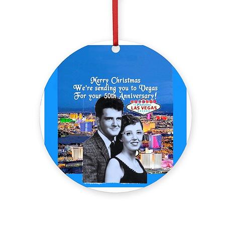 50th Anniversary Las Vegas Ornament (Round)