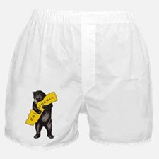 Vintage California Bear Hug Illustrat Boxer Shorts