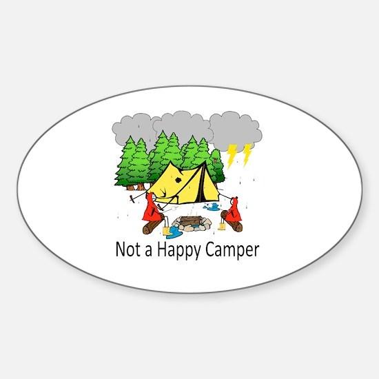Cute Unhappy Sticker (Oval)