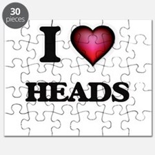 I love Heads Puzzle
