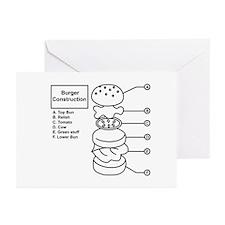 Burger Construction Greeting Cards (Pk of 10)