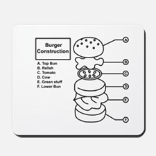 Burger Construction Mousepad