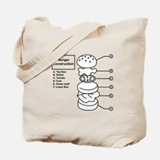 Burger Construction Tote Bag