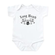 Long Beach Star Fleur de lis Infant Bodysuit