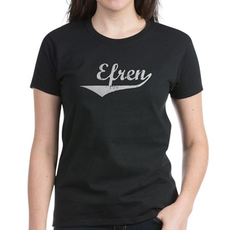 Efren Vintage (Silver) Women's Dark T-Shirt