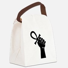 Black Life Canvas Lunch Bag