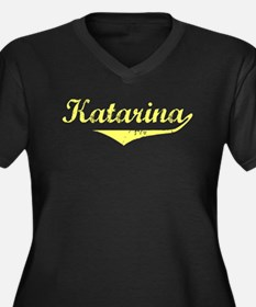 Katarina Vintage (Gold) Women's Plus Size V-Neck D