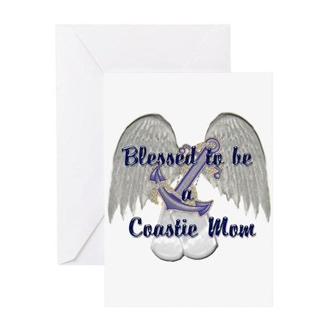 Blessed Coastie Mom Greeting Card