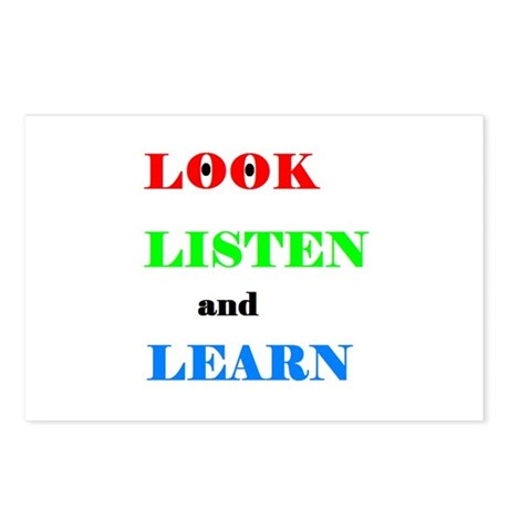 LOOK LISTEN and LEARN Postcards (Package of 8)