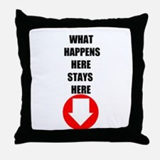 HAPPENS STAYS HERE Throw Pillow