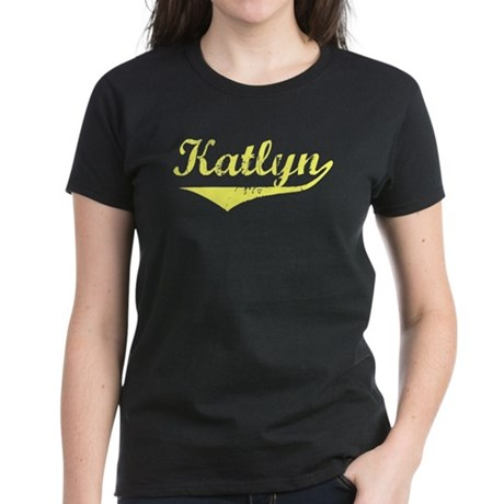 Katlyn Vintage (Gold) Women's Dark T-Shirt