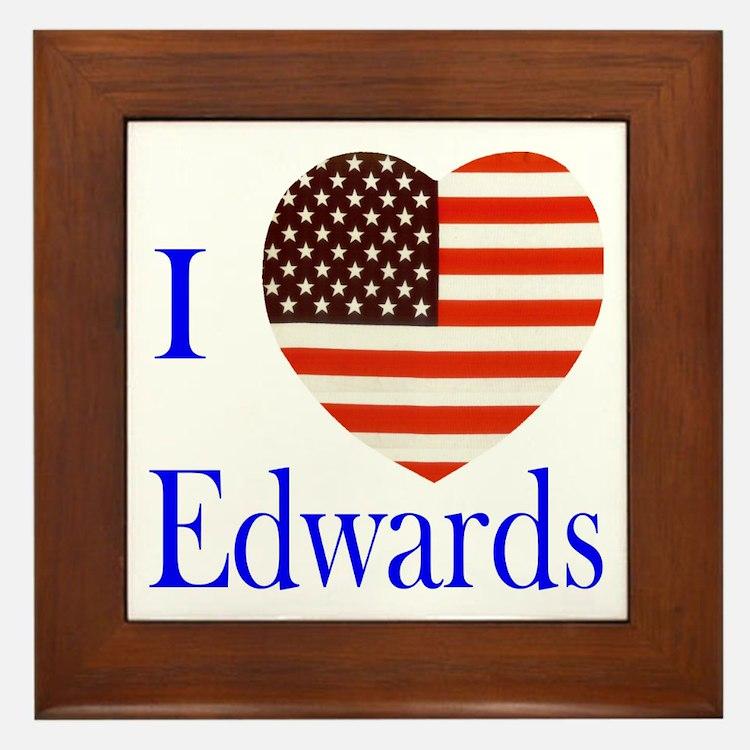 I Love Edwards! Framed Tile