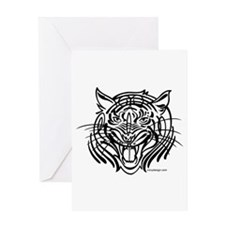 Tribal tiger Greeting Card