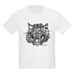 Tribal tiger Kids Light T-Shirt