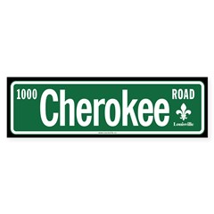 Cherokee Road sticker