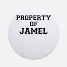 Property of JAMEL Round Ornament