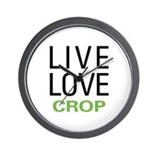 Live Love Crop Wall Clock