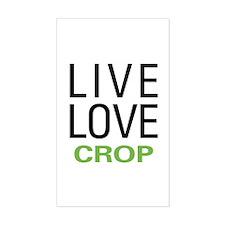 Live Love Crop Decal