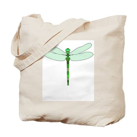 Dragonfly green Tote Bag