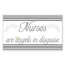 Angels In Disguise Rectangle Decal