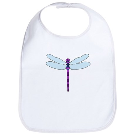 Dragonfly purple & blue Bib