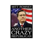 Mitt Romney Crazy Rectangle Magnet