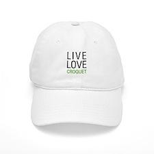 Live Love Croquet Baseball Cap