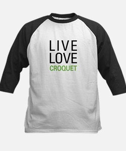 Live Love Croquet Kids Baseball Jersey
