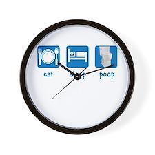 eat sleep poop Wall Clock