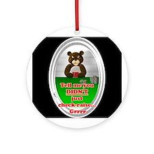 Poker Check-Raise Ornament (Round)